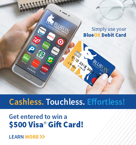 Simply use your BlueOx Debit Card